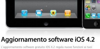 Apple - Aggiornamento software iOS 4.2