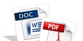 convertire doc in pdf