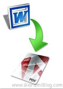WORD PDF TRASFORMARE IN FILE UN COME