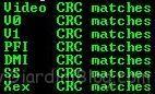 crc matches