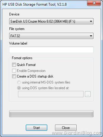 HP USB Format Tool