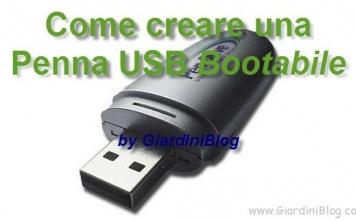 Creare Penna USB bootabile