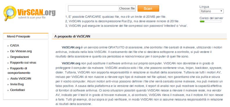 scanner online virscan