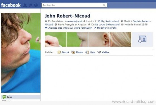facebook profile example