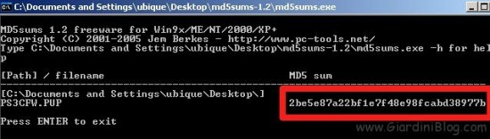 md5sums