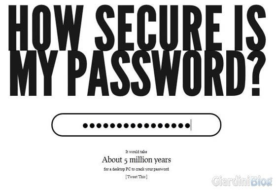password sicura test