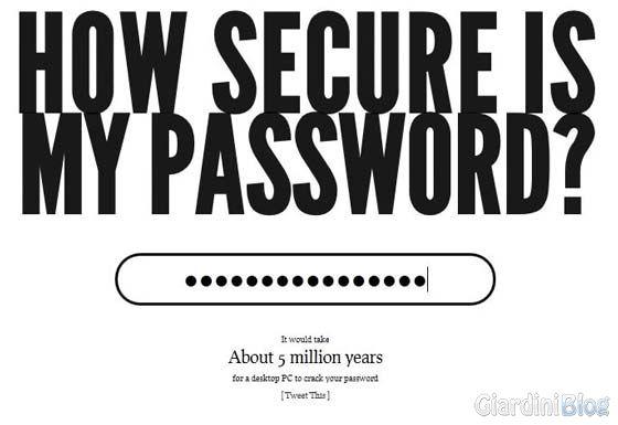 password sicura test