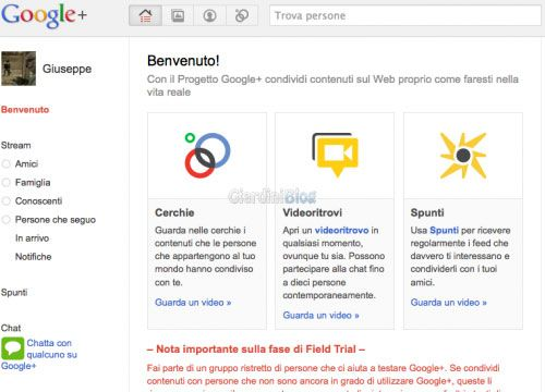 google plus inviti