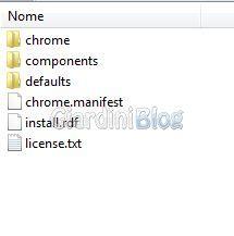 lista file xpi