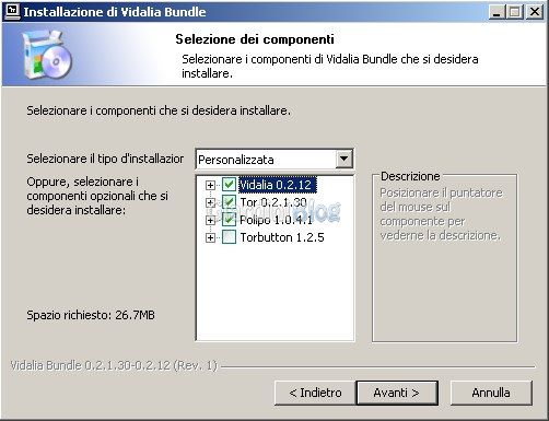 Windows installer per vidalia