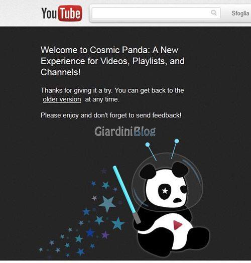 youtube-cosmicpanda-attivato