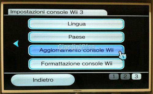 aggiornamento console wii
