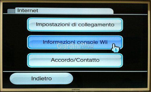 informazioni console wii