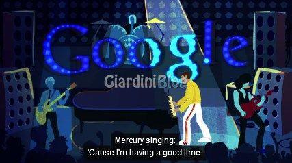 Freddie Mercury logotipo google