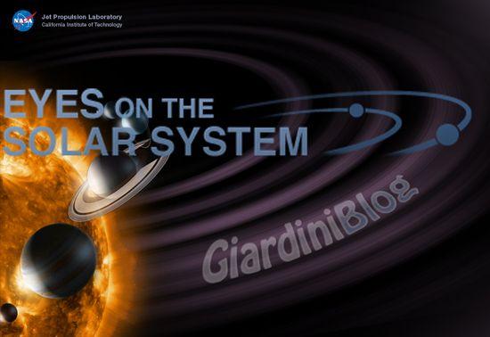 Viaggiare nel sistema solare con Eyes on the Solar System