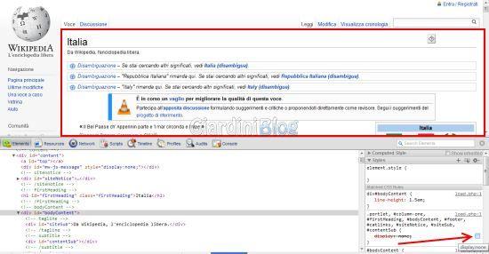 google chrome display none disattivato