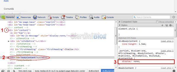 google chrome display none