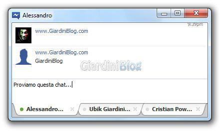 finestra chat facebook messenger