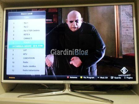elenco canali tv samsung