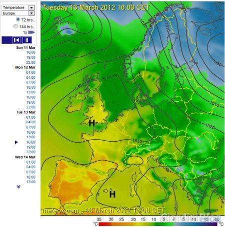 immagini satellitari meteo temperature
