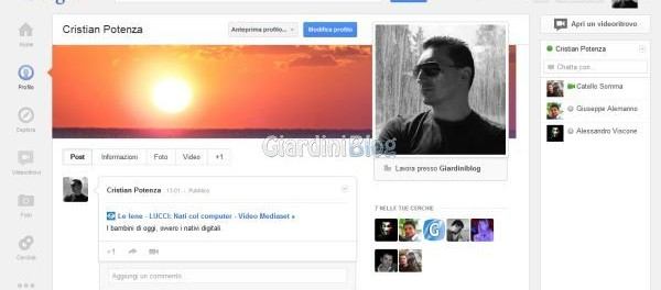 Nuova interfaccia Google Plus stile Facebook