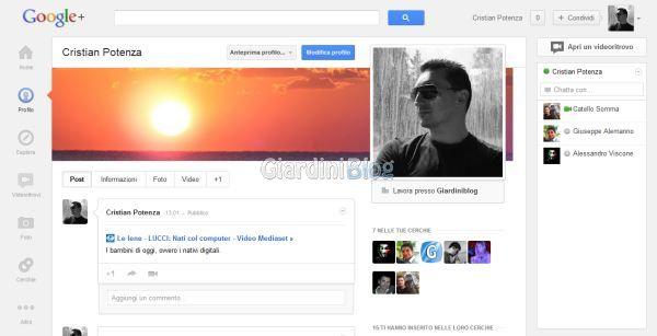 Nuova interfaccia Google Plus stile Facebook
