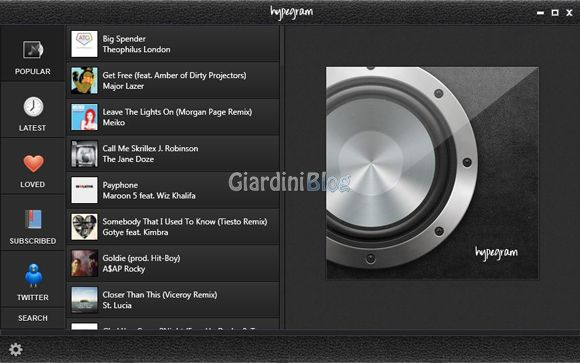 Ascoltare musica gratis in streaming con Hypegram