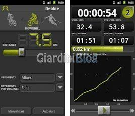 applicazione android SoftRace corsa ciclismo