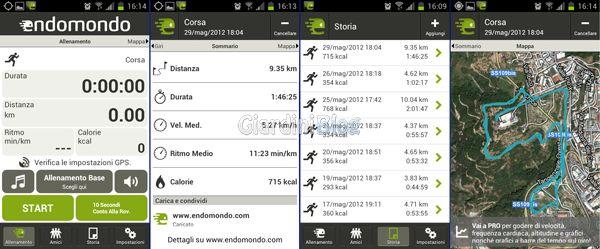 applicazione android corsa ciclismo