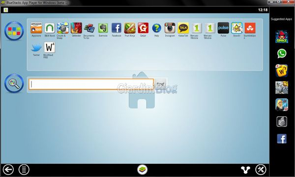 BlueStacks App Player - Home
