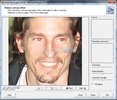 correggere gli occhi rossi dalle fotografie