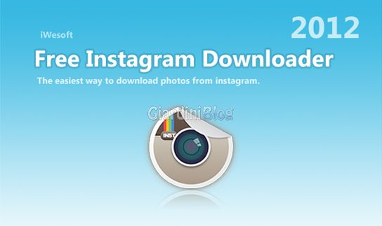 scaricare foto da instagram con Free Instagram Downloader