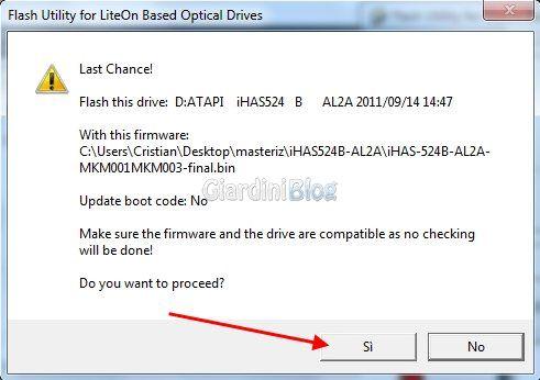 Flash Firmware iXtreme Burner Max masterizzatori LiteOn iHas