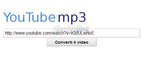 Youtubemp3 scaricare musica da Youtube