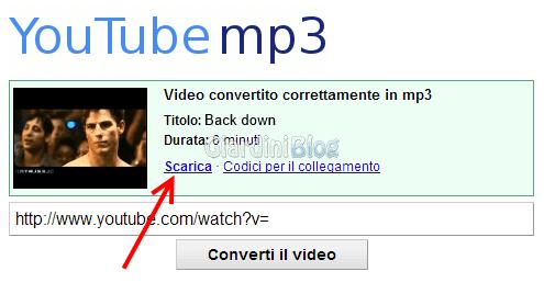 Scaricare Musica da Youtube con Youtube-mp3.org