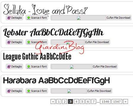 siti scaricare font gratis