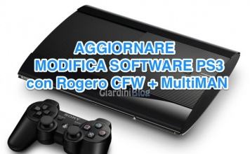 Aggiornare modifica software PS3 con Rogero CFW 4.50 e MultiMAN 4.50