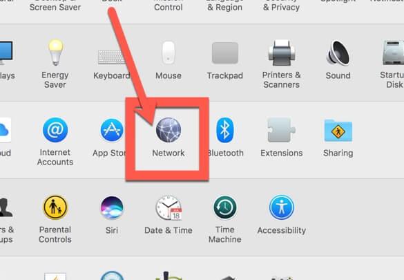 Impostazioni di rete su macOS
