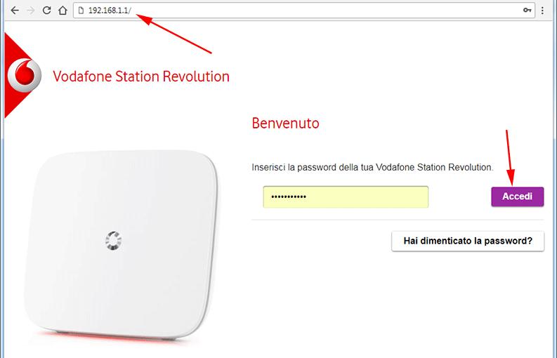 pannello controllo router per cambio dns