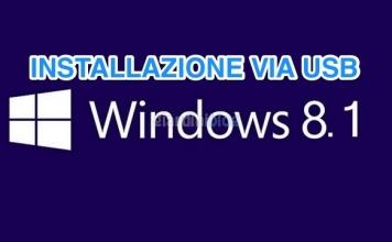 Creare penna USB per l'installazione di Windows 8.1