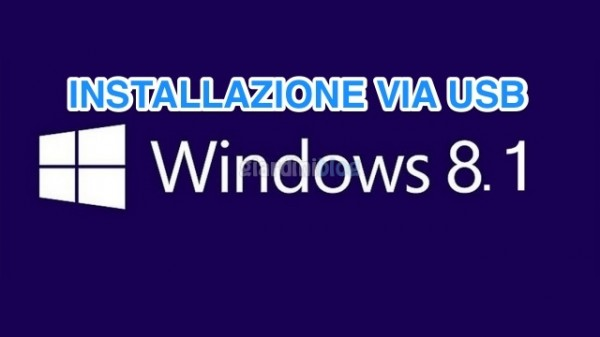 installare windows 8.1 via usb