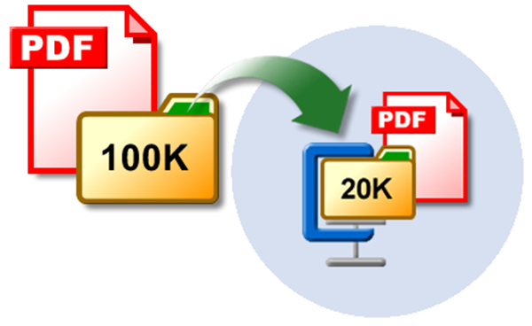 Comprimere file PDF