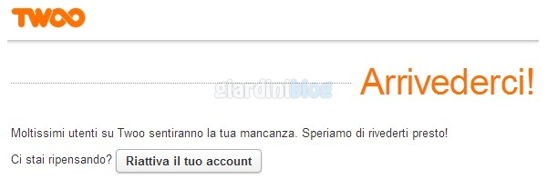 cancellazione account