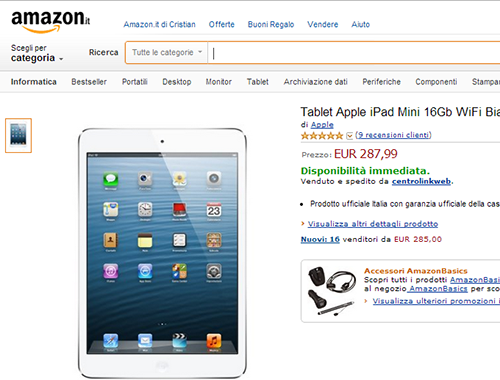Acquistare in modo conveniente su Amazon