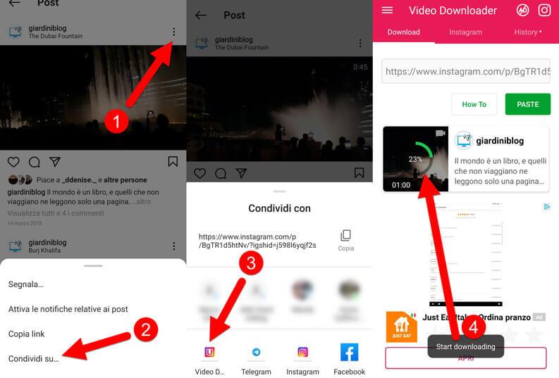 App Android Scaricare Video Da Instagram