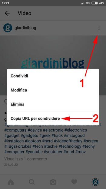 scaricare video da instagram con android