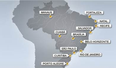 citta stadi mondiali brasile 2014