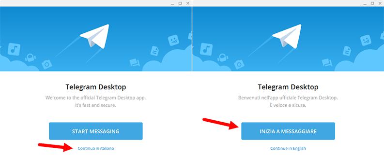 telegram inizia a messaggiare