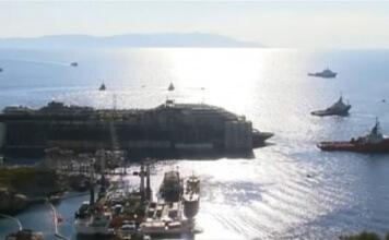 Nave Costa Concordia Diretta live Streaming Rimozione