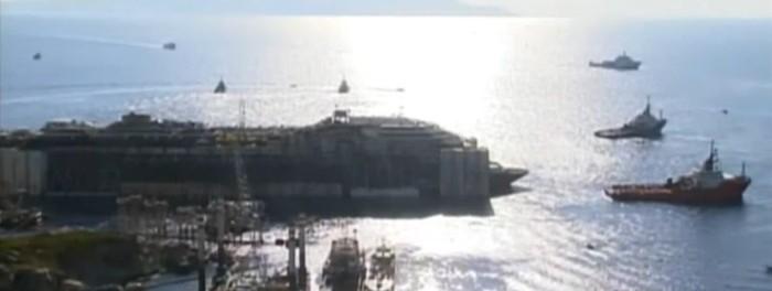 rimozione nave costa concordia live streaming